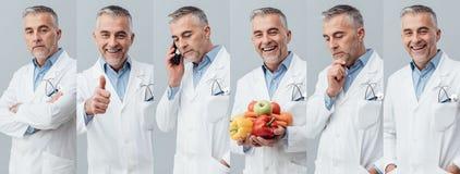 Collage professionnel de photo de docteur images libres de droits