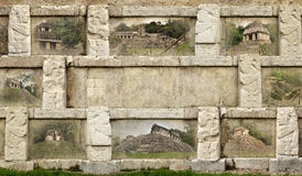 Collage pyramids Mayan city of Palenque Royalty Free Stock Photography