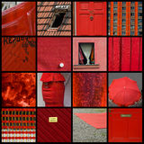 Collage red Stock Image