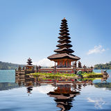 Collage with reflection of Pura Ulun Danu Bratan Royalty Free Stock Image