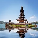Collage with reflection of Pura Ulun Danu Bratan Royalty Free Stock Image