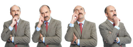 Collage. Reflection. The Businessman Stock Photos
