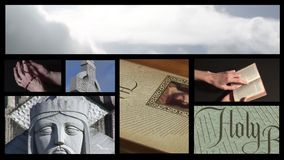 Collage of Religious footage 5 stock footage