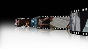 Collage of Religious footage 3 stock footage