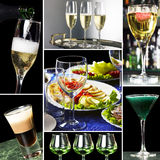 Collage for restaurant business Royalty Free Stock Photography