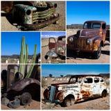 Collage retro de los coches Fotos de archivo libres de regalías