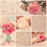 Collage of retro photos stock image
