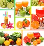 Collage from ripe fruit Royalty Free Stock Photos