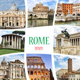 Collage - Rome. Italy Stock Images