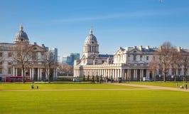 Collage royal de marine de Greenwich Hall et chapelle peints Images libres de droits