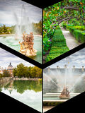 Collage of Royal Palace of Aranjuez, Madrid, Spain.  Stock Photography