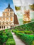 Collage of Royal Palace of Aranjuez, Madrid, Spain.  Stock Image