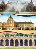 Collage of Royal Palace of Aranjuez, Madrid, Spain.  Stock Images