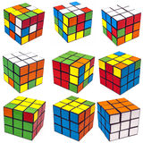 Collage rubik cube Royalty Free Stock Photography