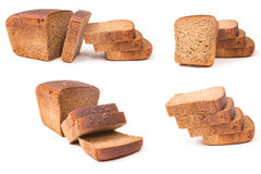 Collage of rye bread Royalty Free Stock Images