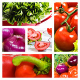 Collage of salad Royalty Free Stock Photo