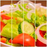 Collage salad royalty free stock photo