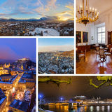 Collage of Salzburg Austria images Royalty Free Stock Images