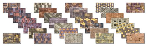 Collage sample of concrete paving slab for laying tracks.  Royalty Free Stock Image