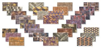 Collage sample of concrete paving slab for laying tracks.  Royalty Free Stock Photos