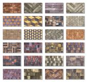 Collage sample of concrete paving slab for laying tracks.  Royalty Free Stock Photography