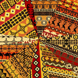 Collage of sample with ethnic motifs Royalty Free Stock Photo