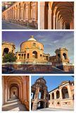 Collage of san luca - bologna. Italy Stock Photography
