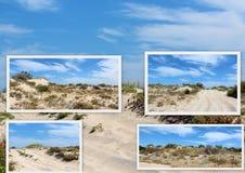 Collage of sand dunes near Bunbury Western Australia. Stock Photography