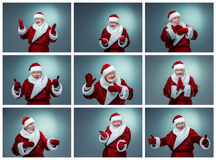 Collage of  Santa Claus different emotions Stock Photography