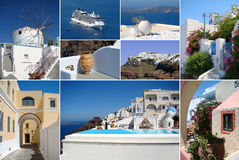 Collage of Santorini island Royalty Free Stock Photo