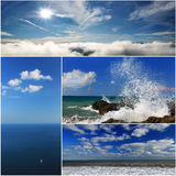 Collage of sea landscapes Stock Image
