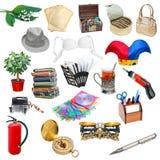 Collage semplice degli oggetti Fotografia Stock Libera da Diritti