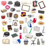 Collage semplice degli oggetti isolati Fotografia Stock Libera da Diritti