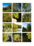 Collage septiembre Fotos de archivo