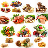 Collage, set food pyramid, healthy eating. Diet royalty free stock photo