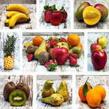 Collage of several fruits Stock Photo