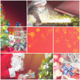Collage with several images of christmas, xmas theme royalty free stock image