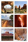 Collage of several National Parks Stock Image