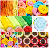 Collage of sewing Royalty Free Stock Photography