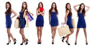 Collage sexy vrouwen Stock Afbeeldingen