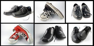Collage of shoes Royalty Free Stock Image