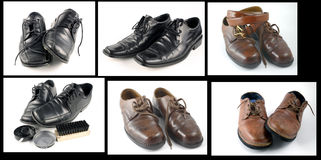 Collage of shoes Royalty Free Stock Photo