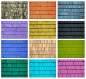 Collage of colorful tiles Stock Image