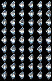 Collage - side views of diamonds Royalty Free Stock Image