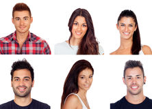 Collage with six images of young people Royalty Free Stock Photography