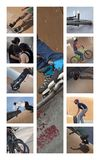 Skaters and bikers Royalty Free Stock Images