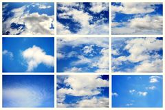 Collage Sky Royalty Free Stock Photo