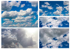 Collage sky Stock Photography