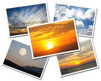 Collage of Sky postcards Royalty Free Stock Images