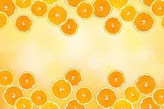 Collage of sliced oranges Stock Photo
